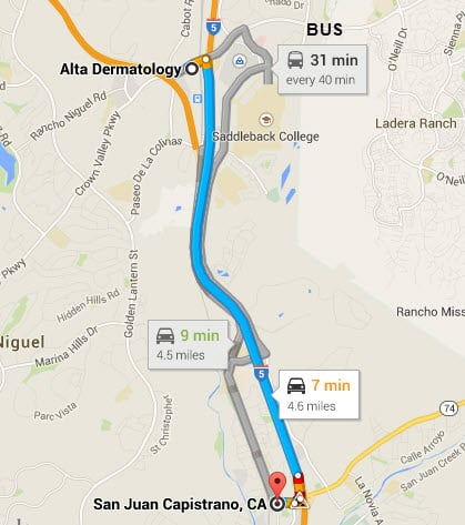 directions-to-dermatology-office-San-Juan-Capistrano